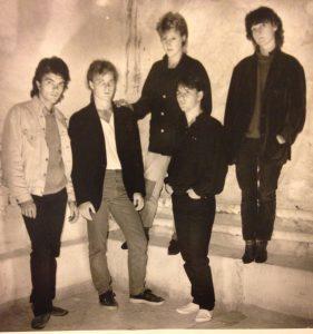 ZON 6 från 1982. Foto: Kenneth Schlaich. På bild: Hans Thunberg, Magnus William-Olsson, Elsie Petrén, Erik Steen och Marie Samuelsson